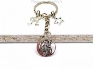 Personalisierter Schlüsselanhänger, Wolf, Stern, Geschenk für Männer - Handarbeit kaufen