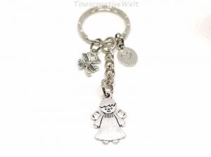 Schlüsselanhänger, Schutzengel, Glücksbringer, Kleeblatt, Herz, Dankeschön, Engel, Geschenk - Handarbeit kaufen