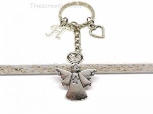 Personalisierter Schlüsselanhänger, Schutzengel, Herz, Glücksbringer, Dankeschön, Engel, Geschenk - Handarbeit kaufen