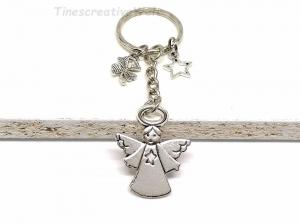 Schlüsselanhänger, Schutzengel, Herz, Stern, Glücksbringer, Dankeschön, Engel, Geschenk - Handarbeit kaufen