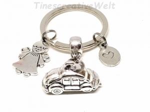 Schlüsselanhänger, Auto, Schutzengel, Engel, Glücksbringer, Herz, Gute Fahrt, Autoreise, Anhänger, Geschenk - Handarbeit kaufen