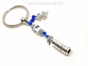 Personalisierter Schlüsselanhänger, Feuerwehr, Feuerlöscher, Held, Glücksbringer, Kleeblatt, Geschenk - Handarbeit kaufen