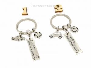 Schlüsselanhänger personalisiert, Drive Safe, Auto, Schutzengel, Fahr vorsichtig, Glücksbringer, Autoreise, Geschenk Mann, Geschenk Frau - Handarbeit kaufen