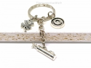 Personalisierter Schlüsselanhänger, Golf, Kleeblatt, Glücksbringer, Taschenanhänger, Geschenk Mann, Geschenk Frau - Handarbeit kaufen