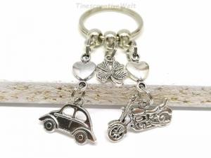 Schlüsselanhänger, Auto, Motorrad, fahr vorsichtig, Führerschein, Herz, Kleeblatt, Glücksbringer, Geschenk, Geburtstag  - Handarbeit kaufen