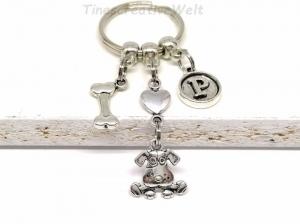 Personalisierter Schlüsselanhänger, Hund, Knochen, Herz, Taschenanhänger, Wechselanhänger, Geschenk - Handarbeit kaufen