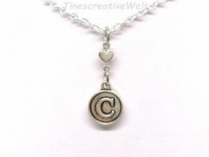 Benutzerdefinierte Kette, Herz, Buchstabenkette, Namenskette, Gliederkette, Geschenk für Frauen, Geschenk Für Männer - Handarbeit kaufen