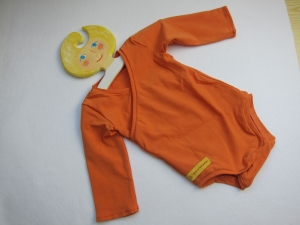 Baby Body in Terrakotta Orange organischer Jersey Gr 62