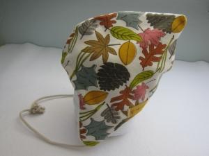 Warme Mütze, Mütze in Herbst Blätter Motive, Alpen Fleece, Öko Mütze, warme Haube - Handarbeit kaufen