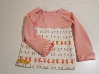 Mäuschen rosa Fuchs Baby Eco T-shirt in Größe 68 in anderen Größen bestellbar. - Handarbeit kaufen