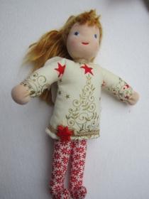 Schutzengel Puppe, Celestine, Weihnachts Botin, Weihnachts Puppe, Handgenäht, 24 cm Sammler Puppe, Taufe, Weihnachten present, Geburtstag - Handarbeit kaufen
