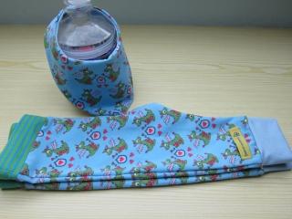 Baby Set Herz allerliebster Drachen Öko-Pumphose und Wendehalstuch für Babies Größe: 62-68 - Handarbeit kaufen
