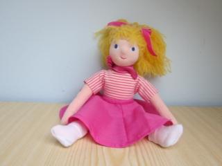 Stoffpuppe, Tanz Puppe, Sissi Traum Tänzerin Puppe, weicher Stoffpuppe 32.5 cm mit bewegliche Beine, nach Waldorf art, rosa Puppe - Handarbeit kaufen
