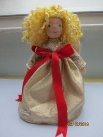 Weihnacht - Baumspitze Engel- Alissa Engel Stoff Puppe, Waldorf Stil, echten Schafwoll Haare, 31cm Sammler Puppe, Kunstpuppe, Weihnachten. - Handarbeit kaufen