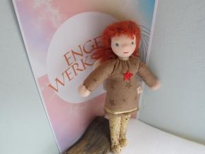 Engel Puppe, Schutz Angel Puppe, Sternen Puppe Birgit Weihnachts Puppe, Weihnachten,Taufe, Geburtstag, Schulanfang - Handarbeit kaufen