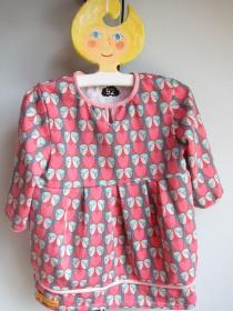 Warmes Langarm Herzchen Bio Jersey Tunika Größe zu bestellen Jersey Kleid mit langen Armen, Herzchen Größe bis 92 - Handarbeit kaufen