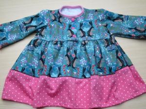 Warmes Langarm Tunika,  Bunny Dress, Russischer Kleid, Groeße 68, Bio Sweatshirt Langen Armen Kleid, Ostern - Handarbeit kaufen