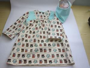 Bio Jersey Kleid mit beste Freunde Gr 104 - Handarbeit kaufen
