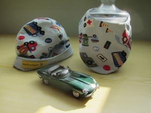 Baby Mütze, Mütze und Schal in hell Blau mit Fahrzeug, Mütze und Schal, Öko Mütze, - Handarbeit kaufen
