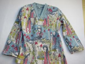 Märchen Rapunzel Kimono Tunika für Kleinkinder in Größe 104, Romantische Bio Tunika Märchenzeit