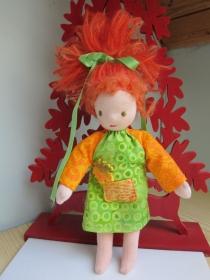 Pixie Puppe, Taschen Puppe, Erin Sammel Kollektion, Handgenähte Herbst Stoff Puppein Waldorf stil, (26 cm), Montessori oder Waldorfstil - Handarbeit kaufen
