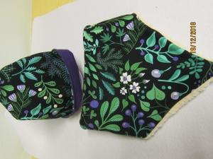 Loop Schal, Herbal Magic Schal mit Alpine Fleece Futter, Öko Kinder Schal in schwarz, lila blau und grün,