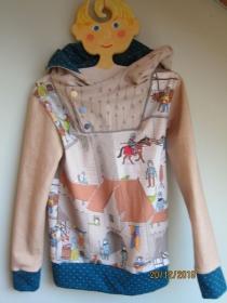 Ritter Welt Hoody Sweatshirt Jacke in Öko Baumwolle  Größe 110  Schlupf Hoodie Ritterburg, Minnesänger  und co.