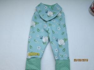 Häschen Baby Öko-Pumphose, Wende Halstuch und Mütze hell blau Set für Babies 62-28  - Handarbeit kaufen