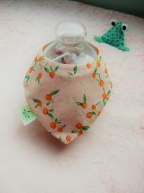Baby Dreiecks wende Halstuch mit Orangen frische - Handarbeit kaufen