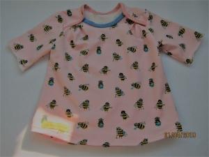Jersey T-shirt kurzarm weiß Bio Jersey Bienen Groeße 80 Ostern Frühling Busy-as-a-Bee