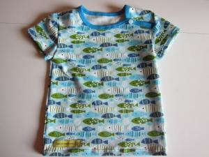 Jersey T-shirt kurz Arm Marine Bio Jersey Bienen Groeße 98  - Handarbeit kaufen