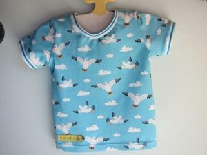 Urlaubs Seemöwen T-Shirt für Buben und Mädchen Größe 68, 6-9 mo, Marine Urlaubs T-shirt - Handarbeit kaufen