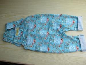 Öko-Strampler für Babies türkis  - Handarbeit kaufen