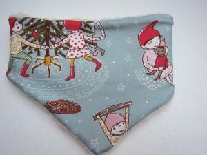 Loop Schal, Christmas time Schal mit Alpine Fleece Futter, Öko Kinder Schal, Weihnachtsmotif - Handarbeit kaufen