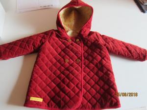 Kord Kapuzen Jacket mit Sternen Futter in Terrracotta oder Marine Blau, Mantel, Buben oder Mädchen, Größe nach Wunsch - Handarbeit kaufen