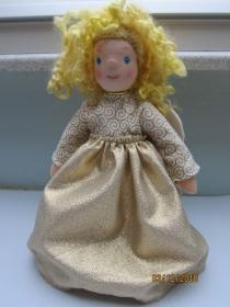 Weihnachts Baumspitz Engel- Agnetha Engel Stoff Deko, Waldorf Stil, echten Schafwoll Haare, 31cm Sammler Puppe, Kunstpuppe, Weihnachten. - Handarbeit kaufen