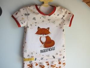 Öko Zweiteiler Halstuch und  t-shirt mit Fuchsliebe für Babys  Gr 68   - Handarbeit kaufen