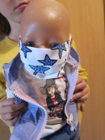 Puppen Nasen Mund Masken aus Baumwolle, für Puppen ab 30-35 Größe - Handarbeit kaufen