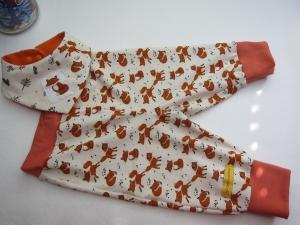 Öko Baby Leggings Fuchs Pumphose mit dreieckstuch in Terrakotta und creme Gr. 62-68 oder zu bestellen in anderen Größen - Handarbeit kaufen