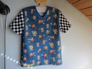 Pit Stop Auto Rennen T-Shirt für Buben und Mädchen Größe 128, 7 Jahre,  Urlaubs T-shirt - Handarbeit kaufen