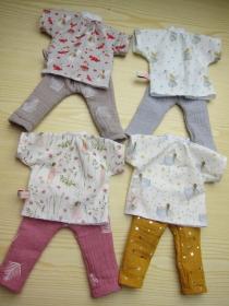 Öko Puppen Tunika mit Pumphose für Handgemachte Waldorf Puppen Größe 30 - 35 cm