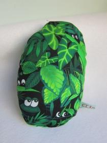 Ei mit Überraschungs: Mal-was-anders Stofftier im Ei  FroschkönigOstern, Frühling, grüner Plusch Frosch im Eiform, 15 x 19 cm - Handarbeit kaufen