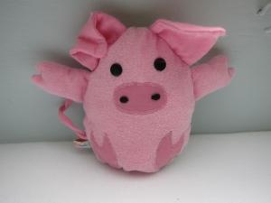 Ei mit Überraschungs: Mal-was-anders Stofftier Piggy, Schweinchen im Ei  Ostern, Frühling, Schweindl im Eiform, 15 x 19 cm