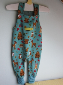 Baby Strampler MitwachsWo Fuchs und Hase Gute Nacht Sagen Strampler Ökologischer Birch Jersey Stoff Gr. 56-62 - Handarbeit kaufen