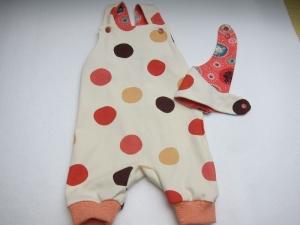 Frühlings Öko-Strampler und Halstuch Set Polka Dots für Babies buntes  Gr 56-62 Baby Strampler, - Handarbeit kaufen