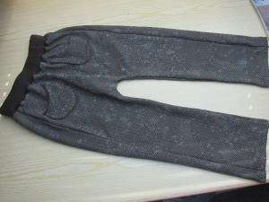 Öko Schlupfhose, Bio-Sommersweat Dirty Herringbone gradient Größe 122 - Handarbeit kaufen