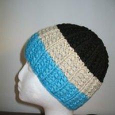 3 farbige Mütze/Haube