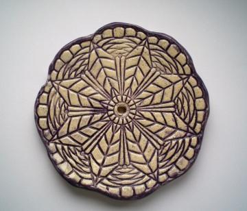 Keramik Seifenschale lila Seifenschale für das Badezimmer und das Gäste WC