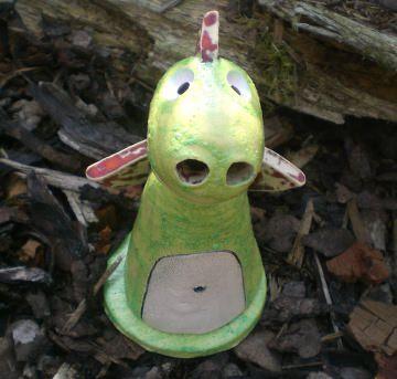 Keramik Räucherdrache grün Räuchern füs die Wellness
