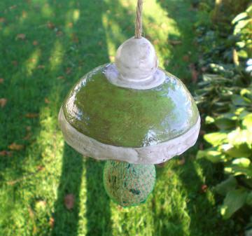 Keramik Meisenknödelhalter grün FROSTFEST